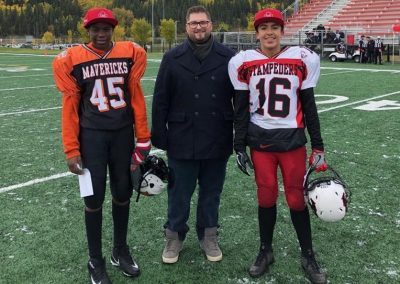 GSL Player of the Game Week 6 Mavericks 45 Favor Ogbeiwi - Stampeders 16 Marcos Soltero